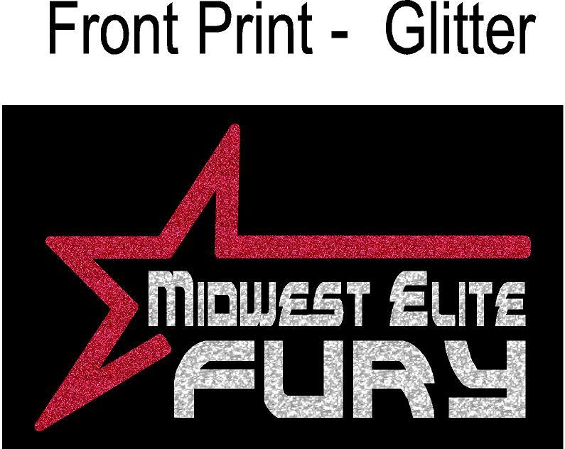 Front Print GLITTER
